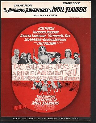 Moll Flanders Theme 1965 Adventures of Moll Flanders Kim Novak Sheet Music