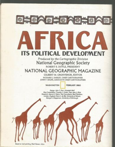 Africa Its Political Development February 1980 National Geographic Map/Supplemen