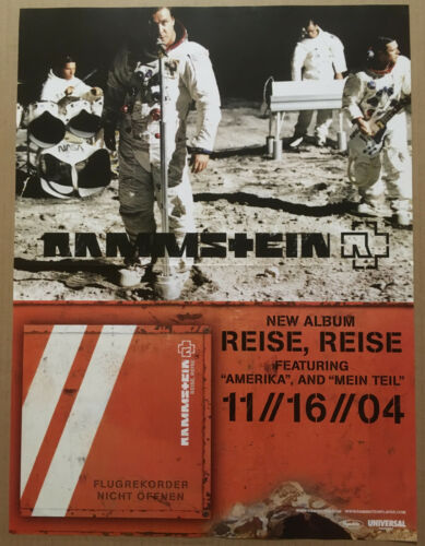 RAMMSTEIN Ultra Rare 2004 PROMO POSTER for Reise CD 18x24 USA NEVER DISPLAYED