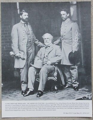 Vintage 11x14 Photograph Civil War General Robert E Lee at Richmond VA home 1865