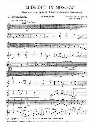 Midnight In Moscow Dixieland Jazz Combo Arrangement Sheet Music