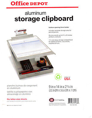 5 New Recycled Aluminum Storage Clipboard Lettera4-size Office Depot 16 Each
