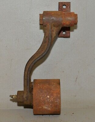 Antique Flat Belt Idler Tension Pulley Assembly Hit Miss Steam Engine Part