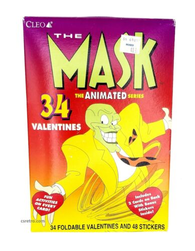 Vintage 1996 THE MASK Animated Series VALENTINES CARDS Kit 90s Collectible -READ