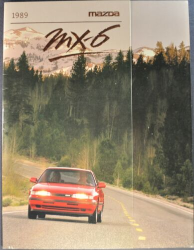 1989 Mazda MX-6 Brochure DX LX GT Turbo Sports Coupe Excellent Original 89