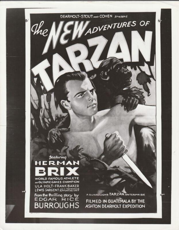 TARZAN Photo -new adventure of Tarzan poster photo repro herman brix