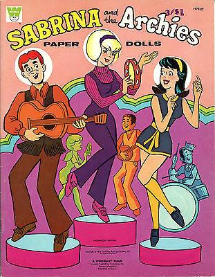 VINTAGE UNCUT 1971 SABRINA ARCHIES PAPER DOLLS ~WHITMAN~ORIG SIZE~REPRODUCTION