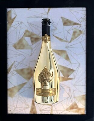 Ace of Spades Champagne Bottle Art (Spades) *Limited Edition* Armand De Brignac