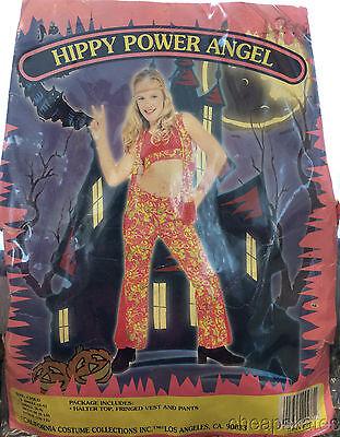 HIPPIE POWER ANGEL Girl Small (6-8) Halloween Costume California Costume  NEW