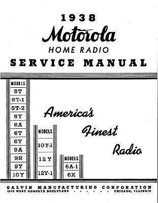 Motorola Schematics, Farm, Radio, Auto, Service Manuals 1937 - 1942 Cdrom