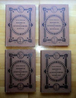 Anton Springer Handbuch der Kunstgeschichte in 4 Bänden 1896-1901