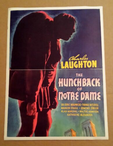 The Hunchback of Notre Dame 1939 Vintage Trade Ad 13x17 Linenbacked C. Laughton