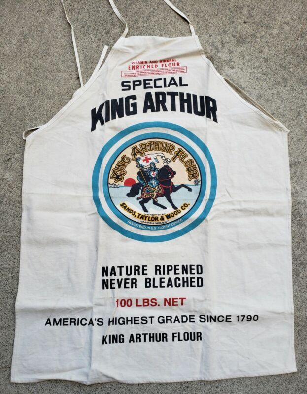 NOS Vtg King Arthur Flour Sack Canvas Advertising Apron Sign