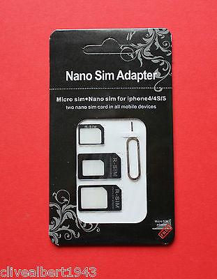 """Nano Sim & Micro Sim Adapter """"Nano to Micro/Nano to Standard/Micro to Standard"""""""