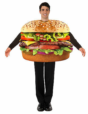 Most Realistic Halloween Costumes ( Hamburger Burger Adult Costume Photo Realistic Food One Size Fits Most)