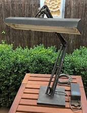 Vintage Retro Large Heavy Industrial Workshop Black Table Lamp Golden Grove Tea Tree Gully Area Preview