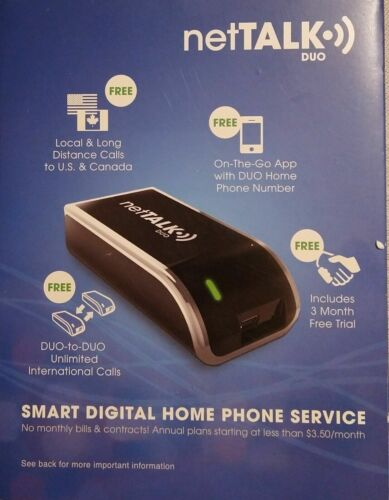 NetTALK Duo - VOIP Home Phone Adapter / No Contracts