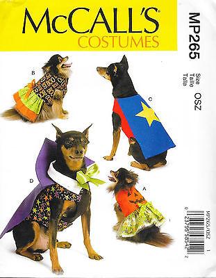 DOG PET SEW PATTERN COSTUMES MP265 DRACULA WITCH SUPER HERO PUMPKIN SIZE S-XXL