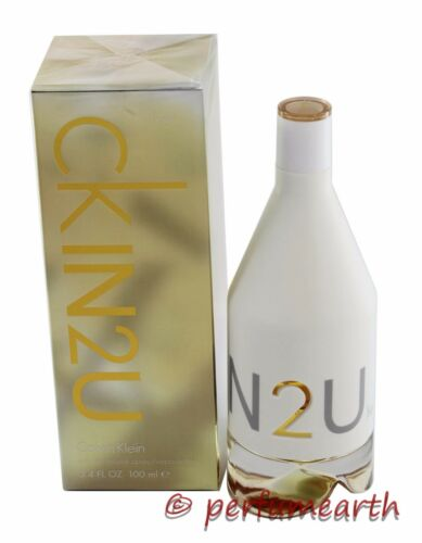 CK IN2U FOR HER 3.4/3.3 OZ EDT SPRAY BY CALVIN KLEIN NEW IN A BOX