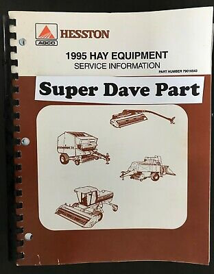 Hesston 1995 Hay Equipment Service Information Manual Part 79016543