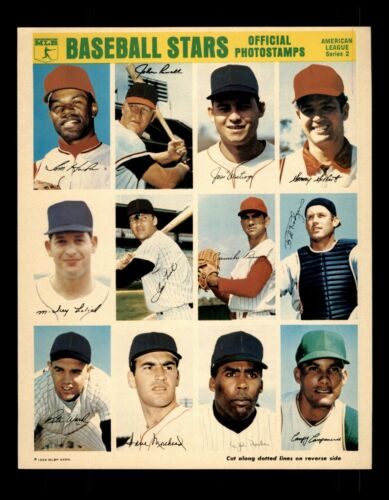 1969 Mlb Baseball Stars Official Photostamps American League Series 2