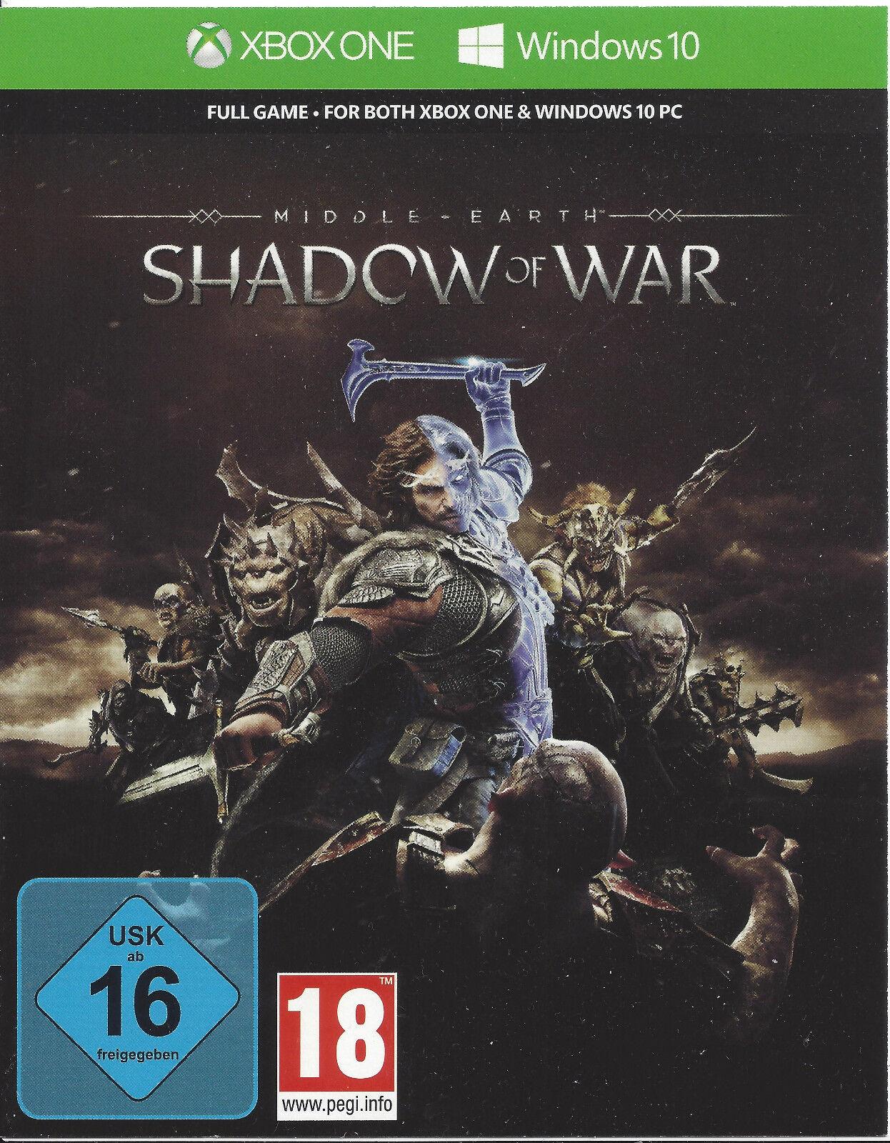 Xbox One Mittelerde Schatten des Krieges Key, Live Shadow of War Download Code