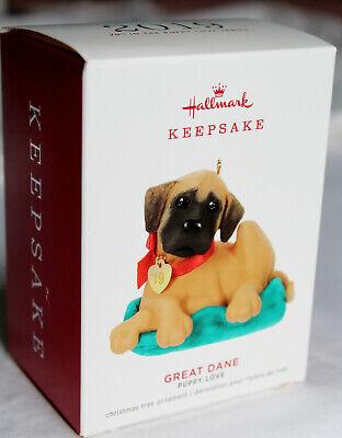 REDUCED - New in Box - 2019 Hallmark Keepsake GREAT DANE Puppy Love Ornament Puppy Keepsake Box