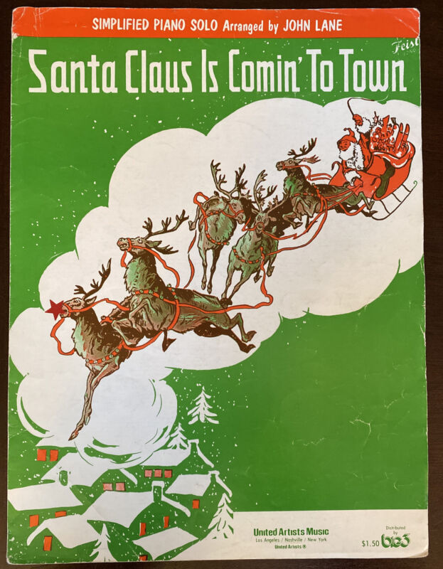Santa Claus Is Comin' To Town Sheet Music - Simplified Piano