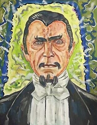 WHITE ZOMBIE BELA LUGOSI DRACULA HORROR POP ART PAINTING 16X20 HALLOWEEN - Pop Art Artists Halloween