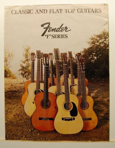 Original Vintage 1972 Fender F Series Guitar Dealer Brochure ~ Classic Flat Top
