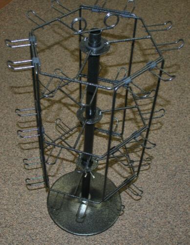Metal Display Spinner Rack 6 Sided 36 Hangers - Best for Small thin items.