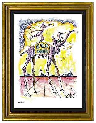 """Salvador Dali Signed/Hand-Numbered Ltd Ed """"Celestial Elephant """" Litho (unframed)"""