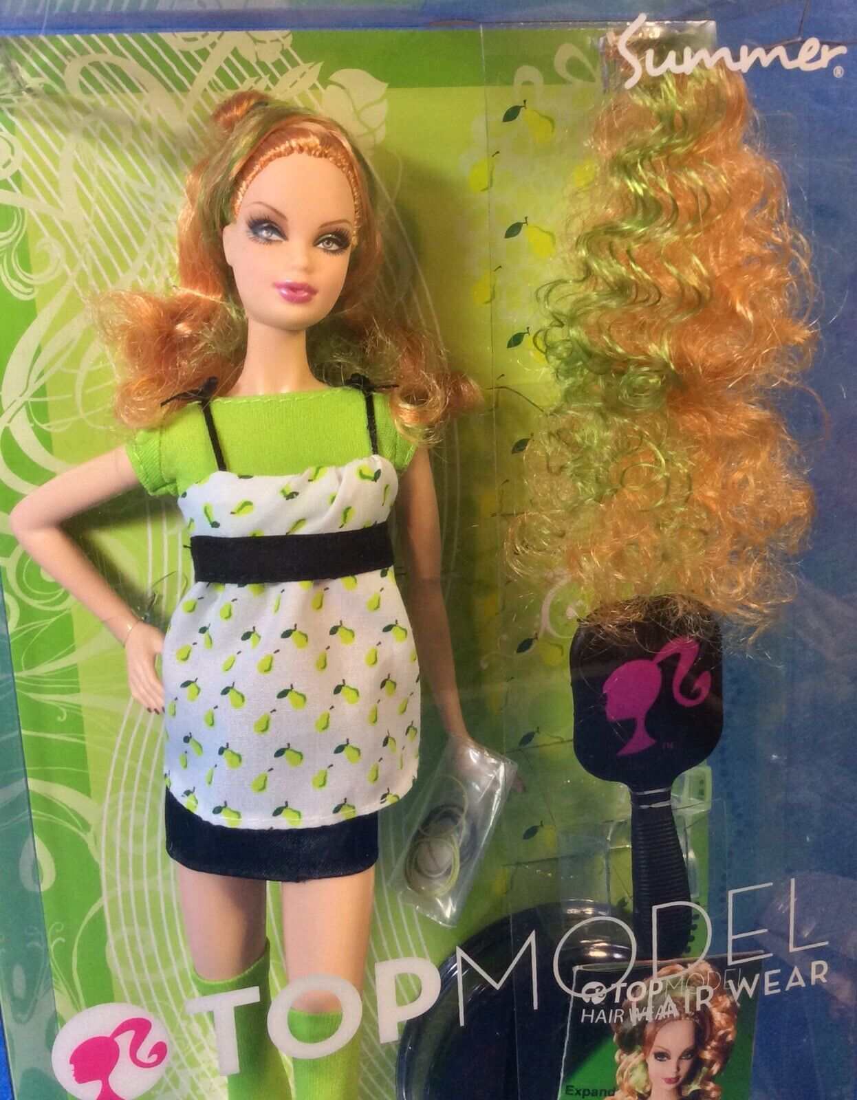 NRFB Doll SUMMER Strawberry Hair TOP MODEL 2007 HAIR WEAR Barbie Friend #M5796
