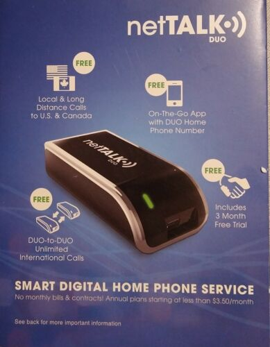 duo voip home phone adapter no contracts