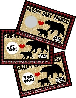 Lumberjack Party (LUMBERJACK BLACK BEAR SCRATCH OFF OFFS PARTY GAME GAMES CARDS BABY SHOWER)