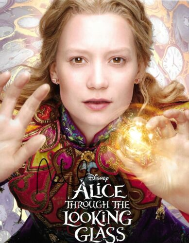 Mia Wasikowska Signed Alice Through The Looking Glass 10x8 Photo AFTAL