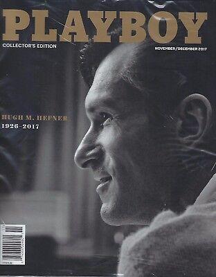 Playboy Magazine November/December 2017  Hugh M. Hefner  FREE SHIPPING!!!