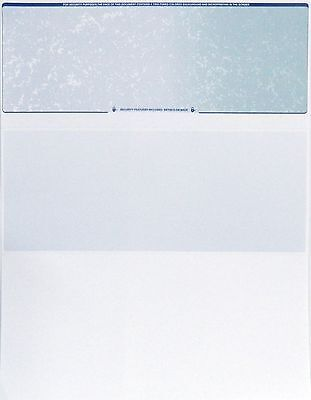Blank Check Stock - Checks Blank Paper Stock-Blue Green-Check On Top-100 Count