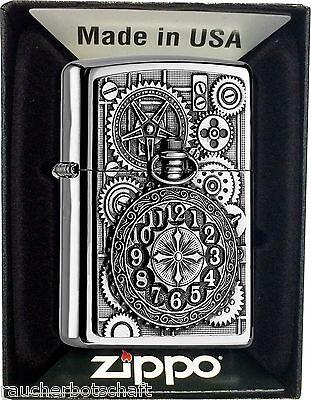 Zippo POCKET WATCH UHR Uhrwerk Benzin chrom MIT oder OHNE Geschenk-Set 2004742 online kaufen