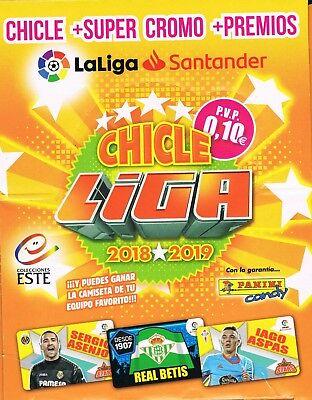 CHICLES DE LA LIGA ESTE 2018 2019 COLECCIÓN COMPLETA 80 CROMOS CON...