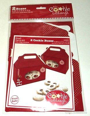 Happy Holidays 2 Cookie Boxen 15.9cmx15.2cmx3