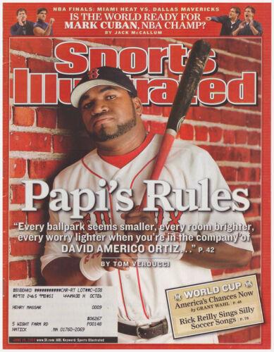 Sports Illustrated June 19, 2006 Big Papi's Rules- David Ortiz Boston Red Sox