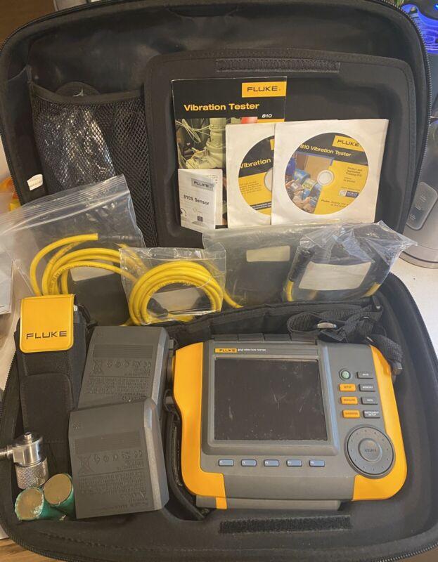 Fluke 810 Handheld Vibration Tester, Laser Tach, 2 Batteries and Free Shipping!