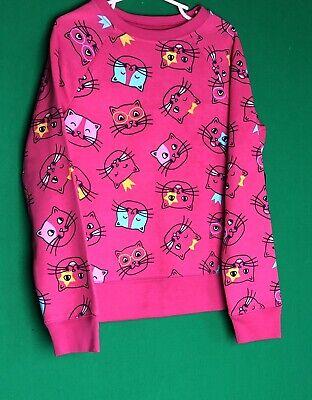 Athletic Works Fleece Cat Long sleeve Sweatshirt Kids Girls Size NWT