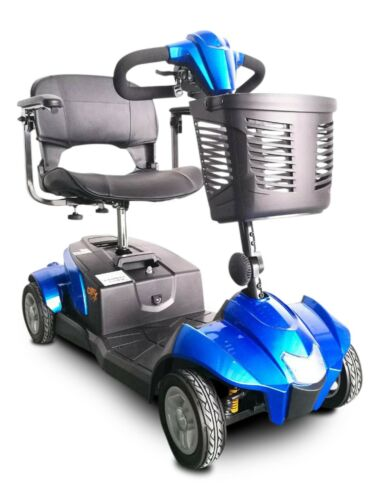 Blue Citycruzer Mobility Scooter, 300 Lb Cap, Suspension, Ezy Disassembly