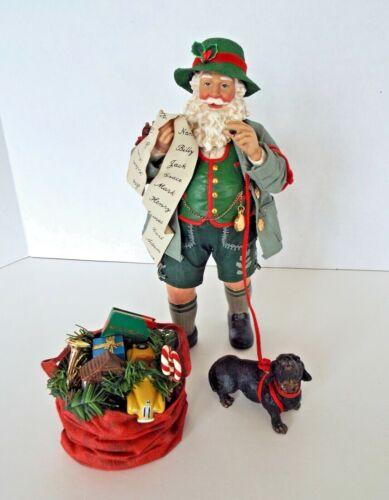 Vintage Clothtiques Santa Figurine Christmas In The Alps 1998 Bavarian Dachshund