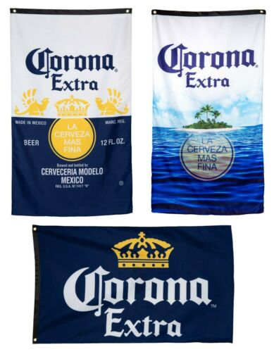 """Corona Extra Beer Flag Fabric Wall Banner Logo 30"""" by 50"""" Officially Licensed"""