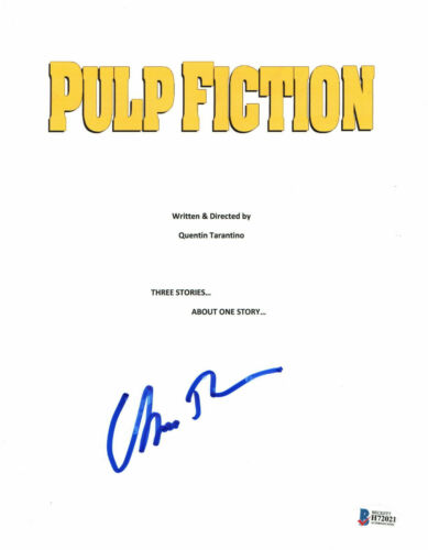 UMA THURMAN SIGNED AUTO PULP FICTION FULL SCRIPT BECKETT BAS COA 1