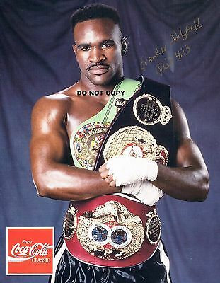 EVANDER HOLYFIELD 8X10 AUTHENTIC IN PERSON SIGNED AUTOGRAPH REPRINT PHOTO
