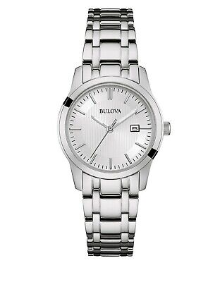 Bulova Women's Classic Quartz Silver-Tone Bracelet 30mm Watch 96M130